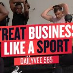 Business Tips: Working Out With Professional Athletes is F@*#$&% HARD! | DailyVee 565